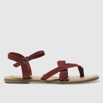 Toms Red Lexie Womens Sandals