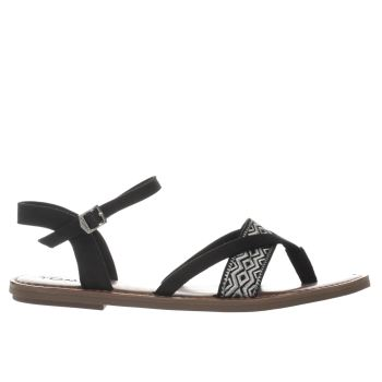 TOMS BLACK & WHITE LEXIE SANDALS