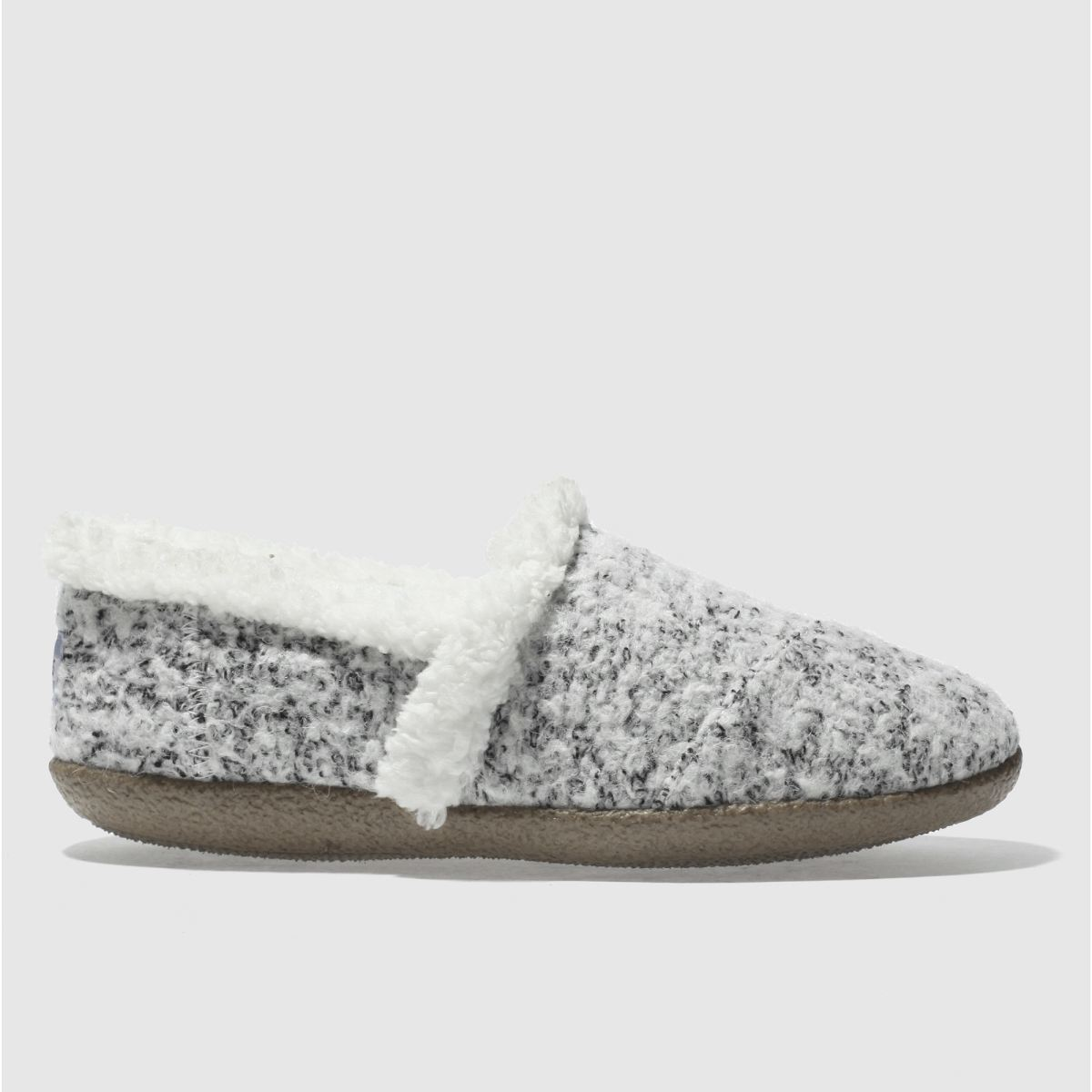 toms white & black house slipper slippers