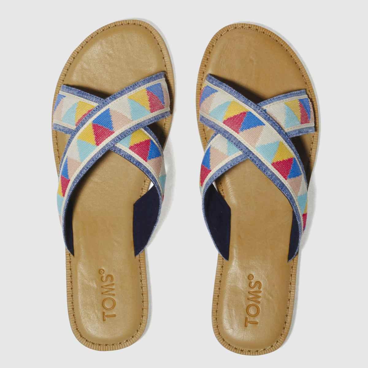Toms Blue & Beige Viv Sandals