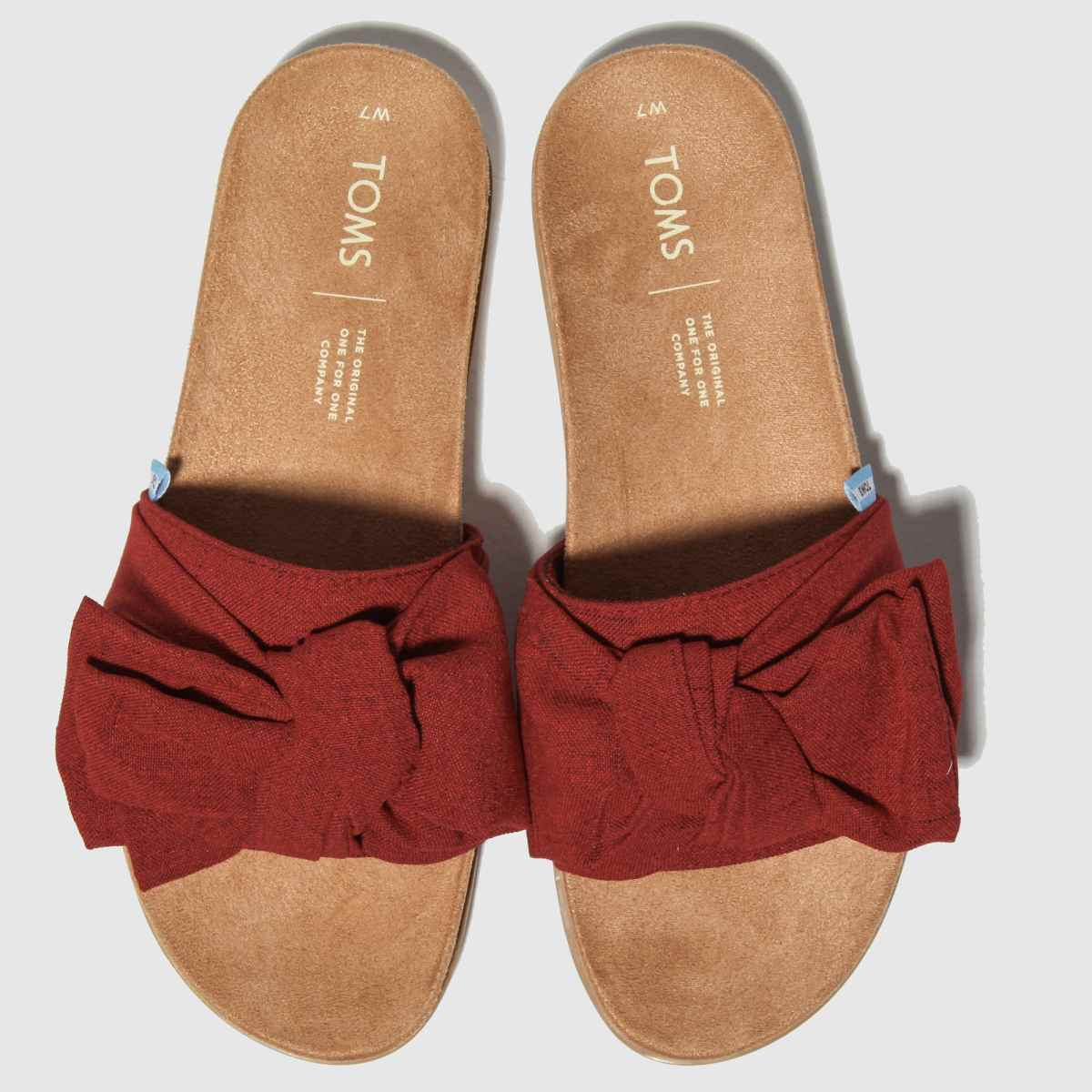 Toms Red Paradise Slide Sandals