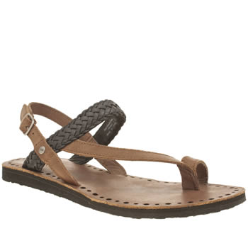 Womens Ugg Australia Brown & Black Raee Sandals