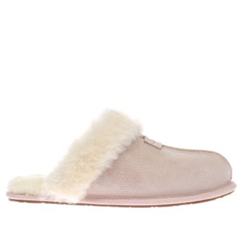 Ugg Australia Pale Pink Scuffette Snake Womens Slippers