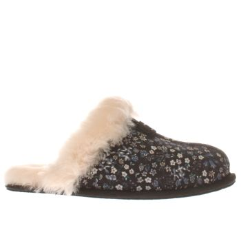 Ugg Australia Black and blue Scuffette Liberty Womens Slippers