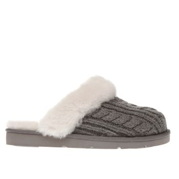 Ugg Australia Grey Cozy Knit Slippers