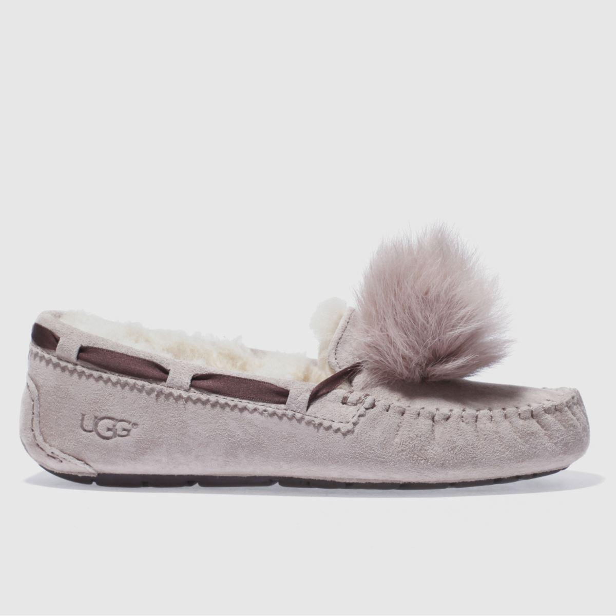 ugg pale pink dakota pom pom slippers