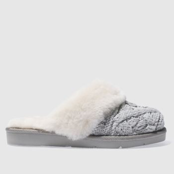 Ugg Grey Cozy Cable Womens Slippers
