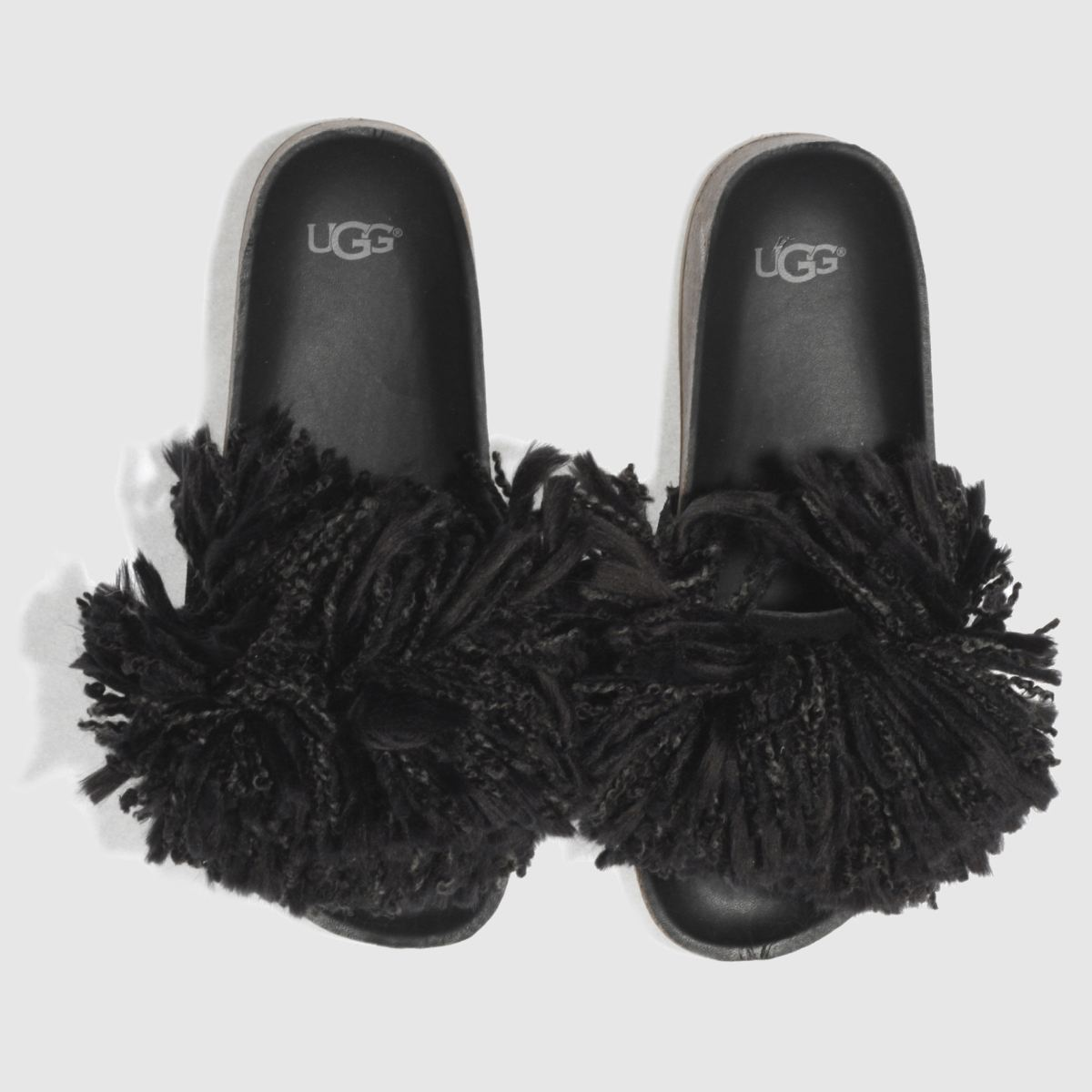 Ugg Black Cindy Sandals