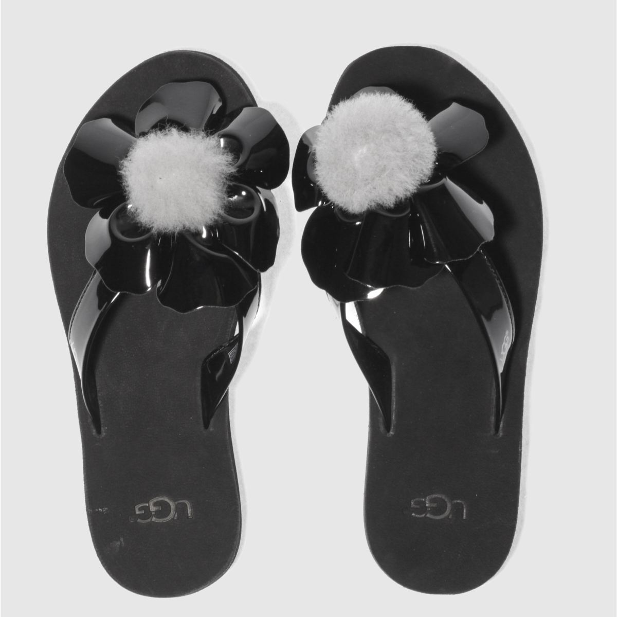 Click to view product details and reviews for Ugg Black Poppy Sandals.
