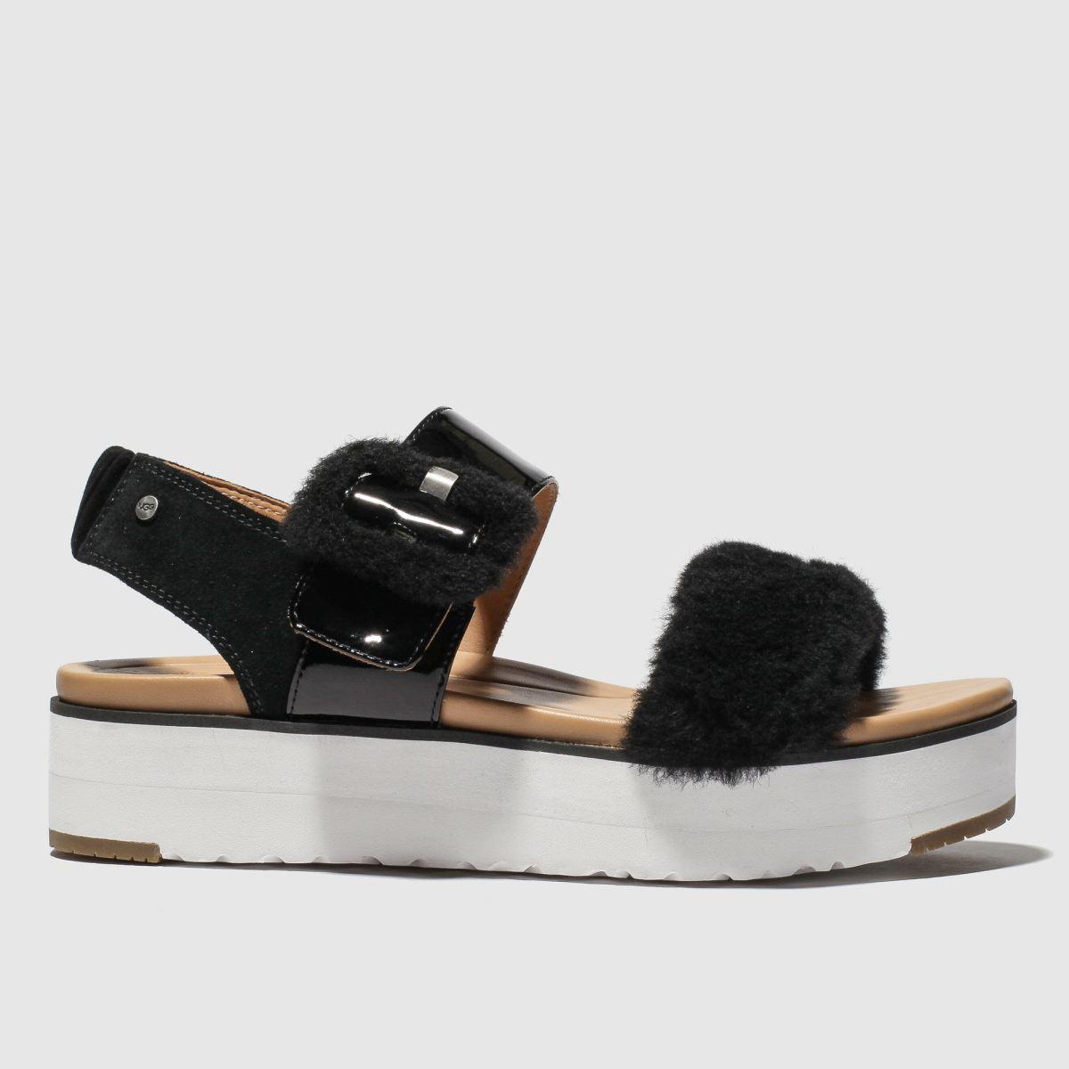 Ugg Black Fluff Chella Sandals