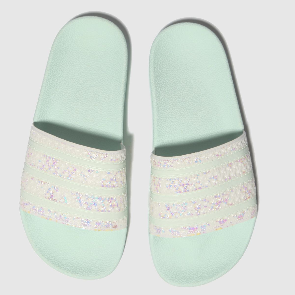Adidas White & Pl Blue Adilette Sandals
