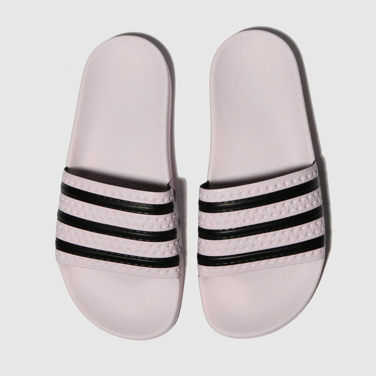 Adidas Pink & Black Adilette Slide Sandals