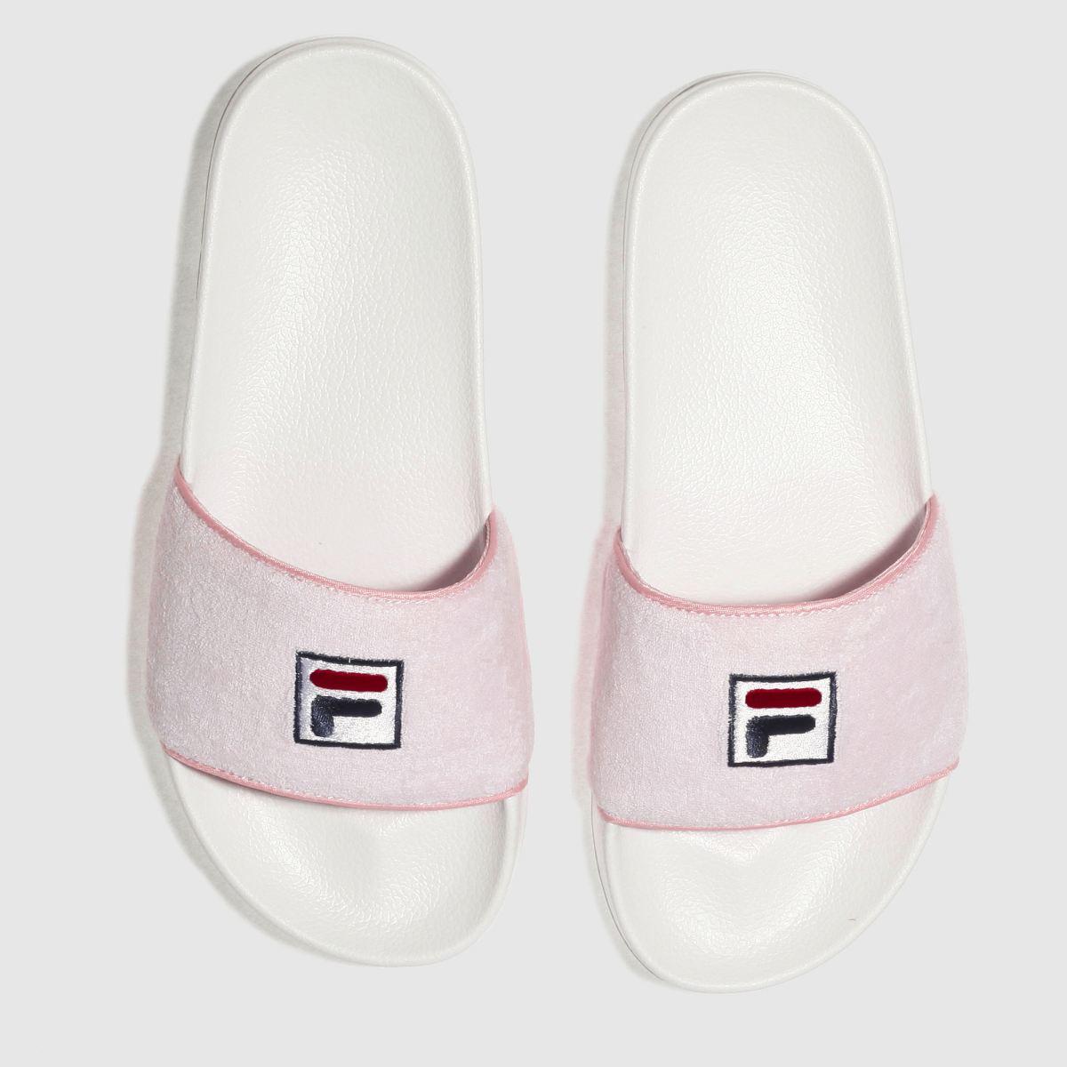 Fila Fila Pale Pink Drifter Terry Sandals