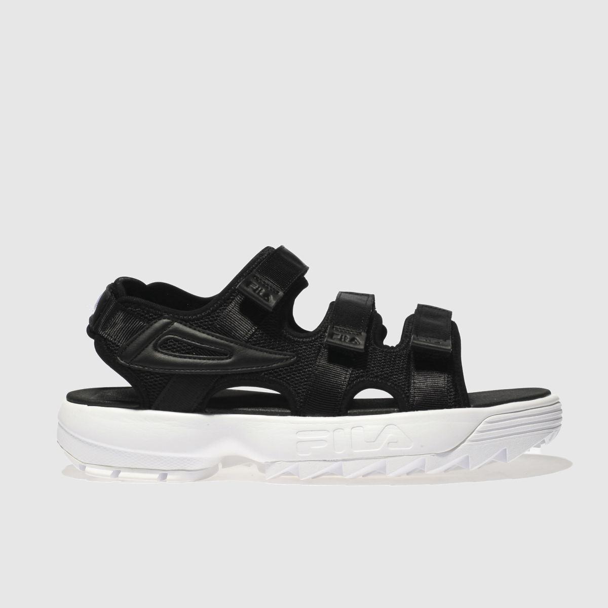Fila Black & White Disruptor Sandals