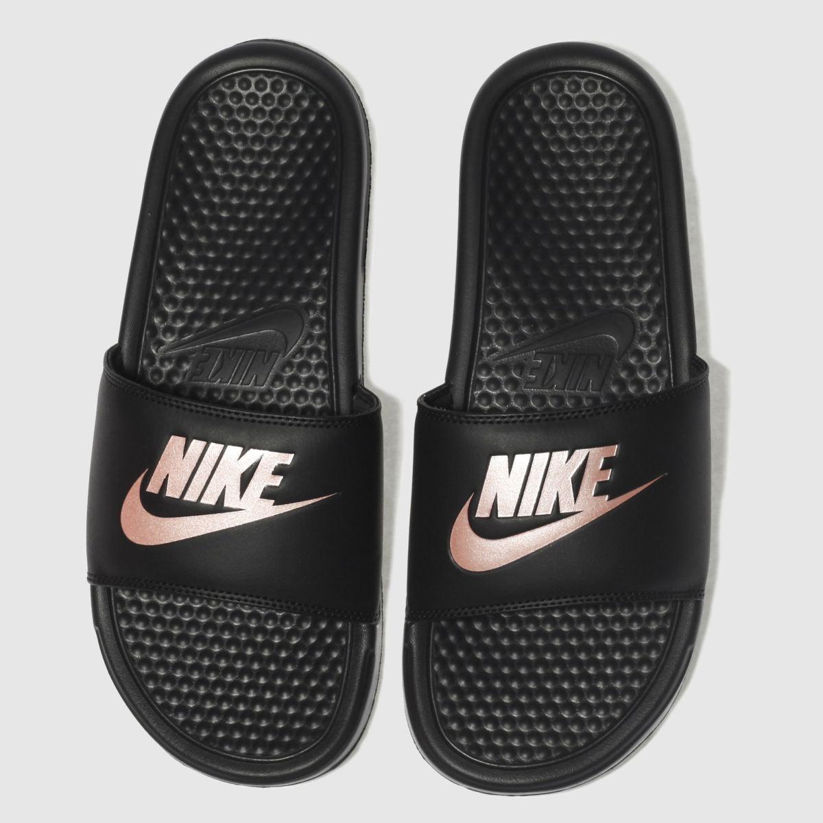 Nike Black & Gold Just Do It Sandal Sandals