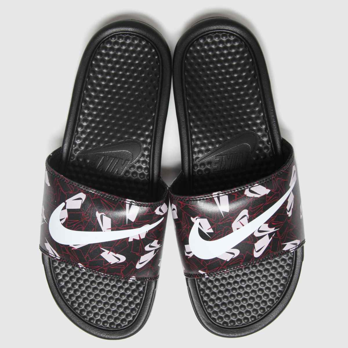Nike Nike Black & Purple Benassi Jdi Sandals