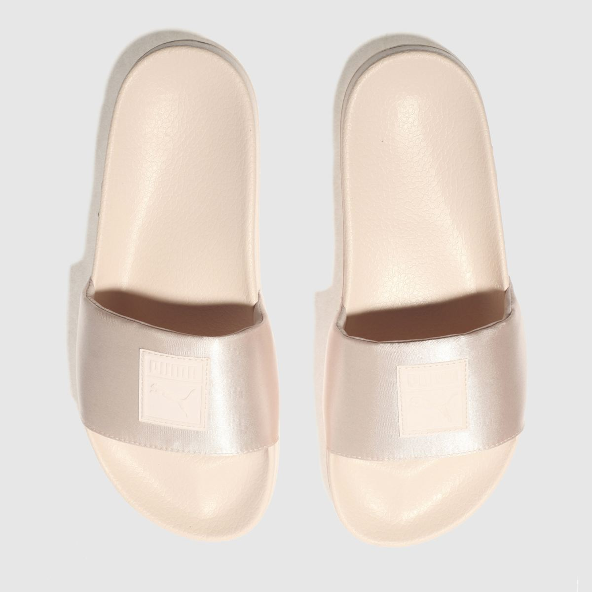 puma pale pink leadcat satin sandals