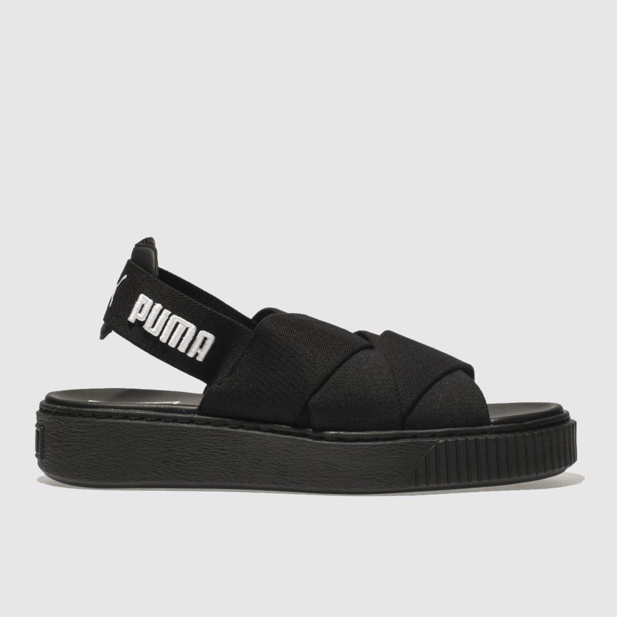 Puma Black Platform Sandal Sandals