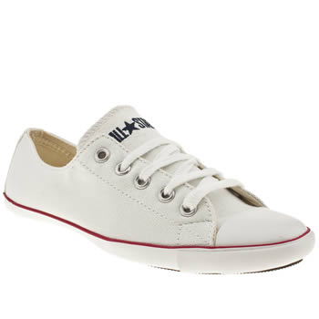 CONVERSE WHITE ALL STAR LIGHT OXFORD TRAINERS