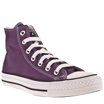 womens converse purple all star hi top trainers