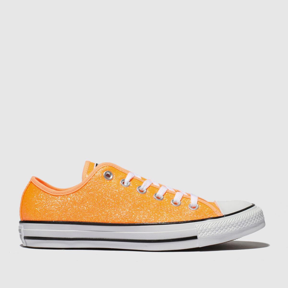 Converse Orange All Star Glitter Ox Trainers