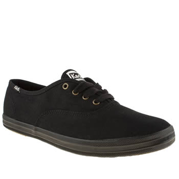 womens keds black champion lace trainers