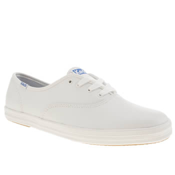 womens keds white & blue champion lace trainers