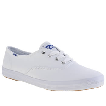 Womens Keds White Champion Lace Trainers