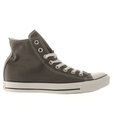 womens dark grey converse all star speciality hi trainers