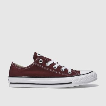 Womens Converse Burgundy All Star Oxford Trainers