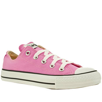 womens converse pale pink all star oxford pink trainers