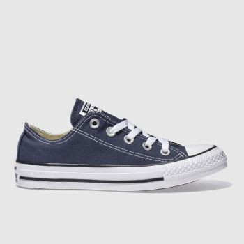 Converse Navy & White All Star Oxford Trainers