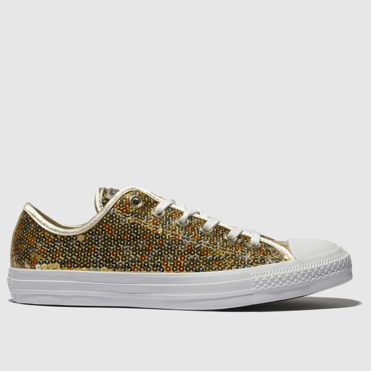 Converse Gold All Star Sequin Ox Trainers