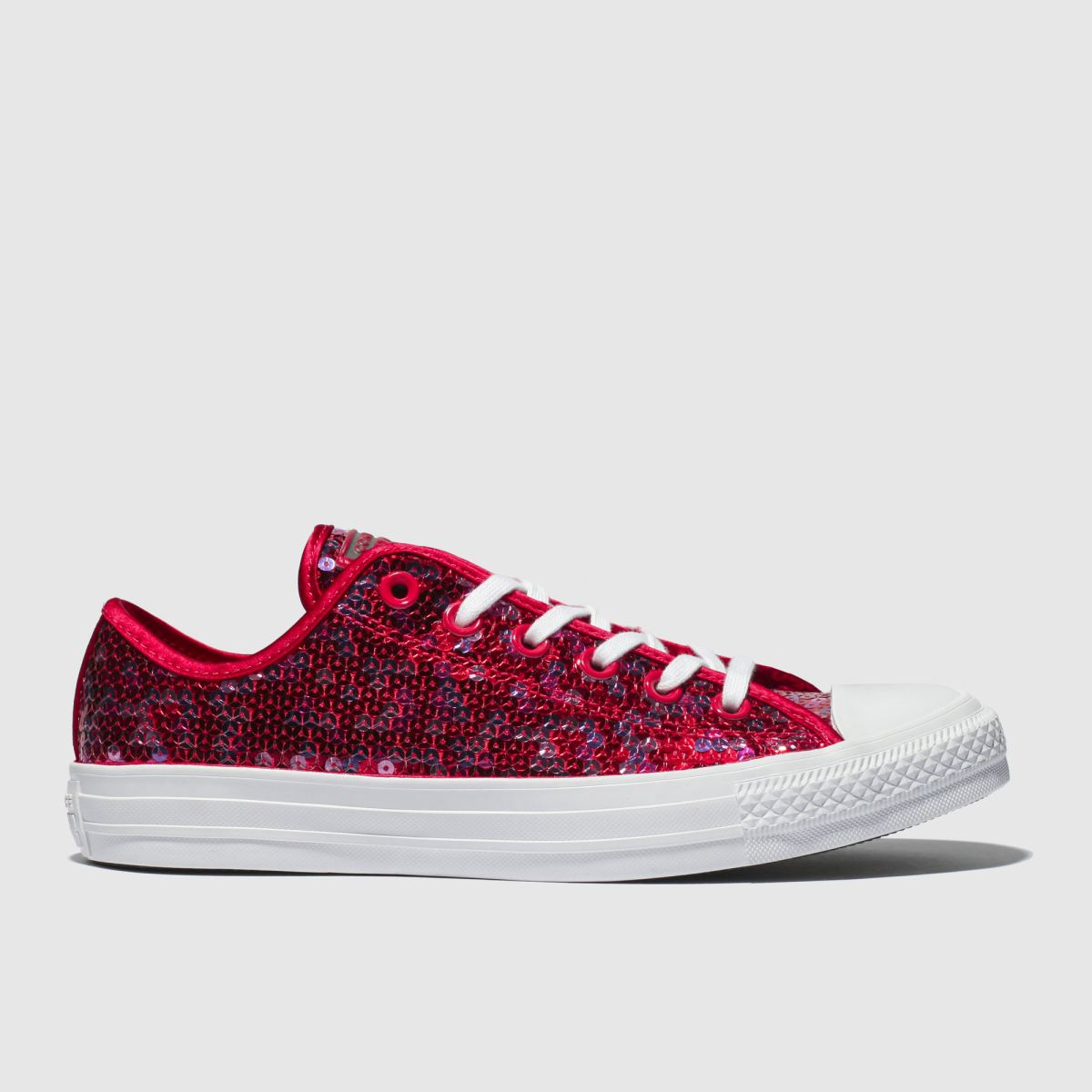 Converse Red All Star Sequin Ox Trainers