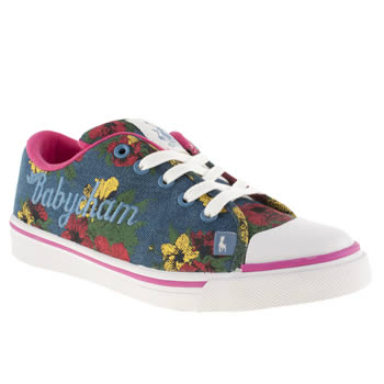 Womens Babycham Pale Blue Fearne Trainers
