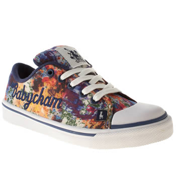 Womens Babycham Navy & White Fearne Trainers