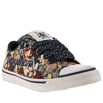 womens babycham multi fearne floral trainers