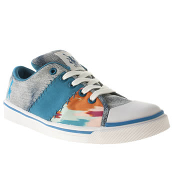 womens babycham pale blue phoebe trainers