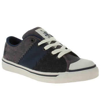 Womens Babycham Navy & White Phoebe Tie Dye Patch Trainers