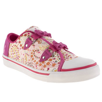 Womens Babycham Pink Sina Bow Paisley Trainers