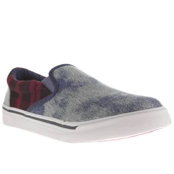 womens babycham pl blue & red della trainers