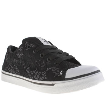 Womens Babycham Black & White Mindy Trainers