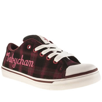 Womens Babycham Black & Purple Mindy Trainers