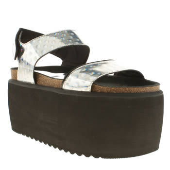 Womens Buffalo Silver Baby Sandals