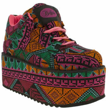 womens buffalo multi scary super aztec trainers