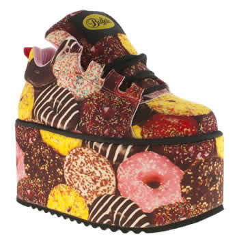 womens buffalo multi scary super doughnuts trainers