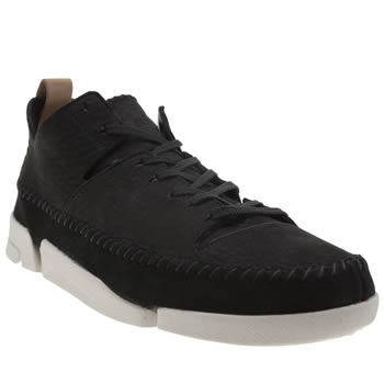 Clarks Originals Black & White Trigenic Flex Womens Trainers