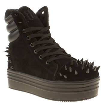 womens cute to the core black lola spike trainers