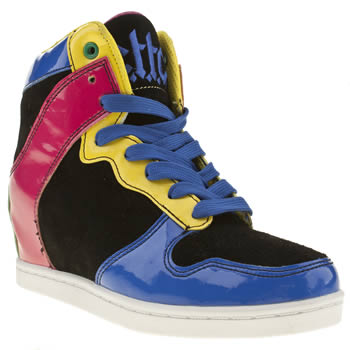 womens cute to the core multi clutch patent trainers