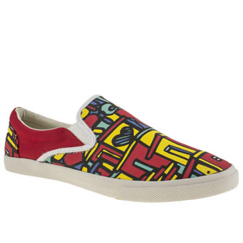 Womens Bucketfeet Red Vidaboa Slip Trainers